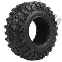 INJORA 4PCS 2.2 Rubber Mud Grappler Tires 120*43MM for 1:10 RC Rock Crawler Axial SCX10 SCX10 II 90046 90047 Traxxas TRX-4 TRX4 2