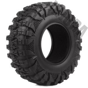 Image 2 - INJORA 4PCS 2.2 Rubber Mud Grappler Tires 120*43MM for 1:10 RC Rock Crawler Axial SCX10 SCX10 II 90046 90047 Traxxas TRX 4 TRX4