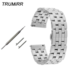 Quick Release Rvs Horlogeband 20mm 22mm voor Hamilton Mannen Vrouwen Horloge Band Vlinder Gesp Polsband Link armband