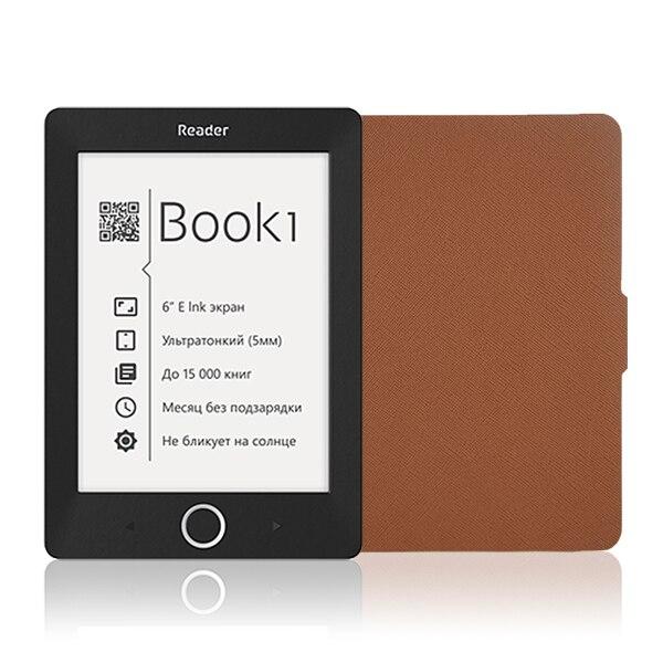 Para 2015 nueva llegada lector de libro de bolsillo 1 caso de la cubierta de Folio de cuero de LA PU caso de cuero protector envío gratis