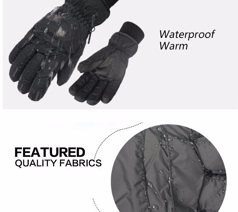 2017 Top Quality New Brand Men's Ski Gloves Snowboard Snowmobile Motorcycle Riding Winter Gloves Windproof Waterproof Snow Glove 6