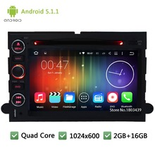 Quad core Android 5.1.1 1024*600 Car DVD Player Radio Audio Stereo Screen For Ford Fusion Expedition Edge Explorer F150 Focus