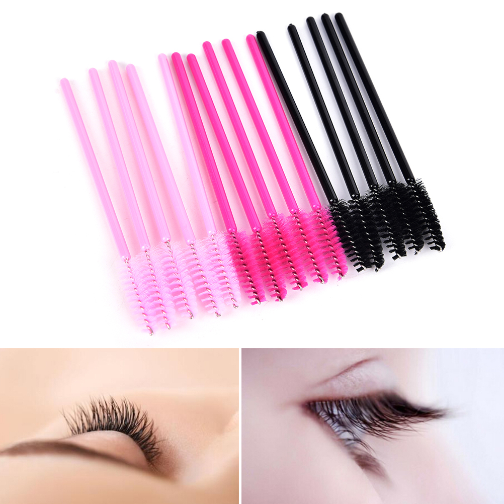50Pcs Hot Sale Applicator Spoolers Makeup Brush Tool Cosmetic Eyelash Extension Disposable Mascara Wand 1