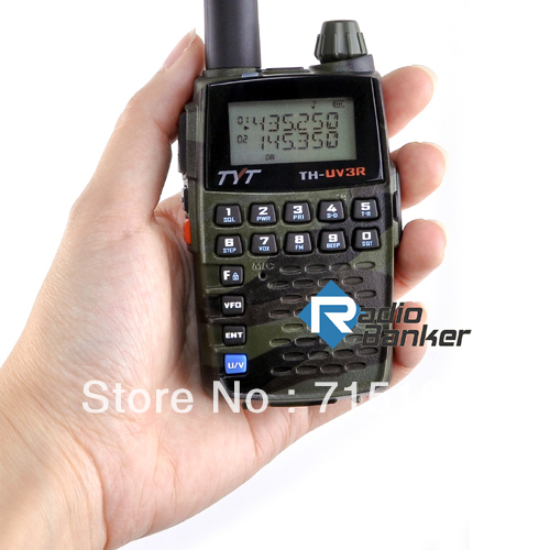 Portable TYT TH-UV3R  Dual Band VHF:136-174MHz & 400-470MHz  Dual Display Mini Walkie Talkie Handheld 2Way Radio Ham Transceiver