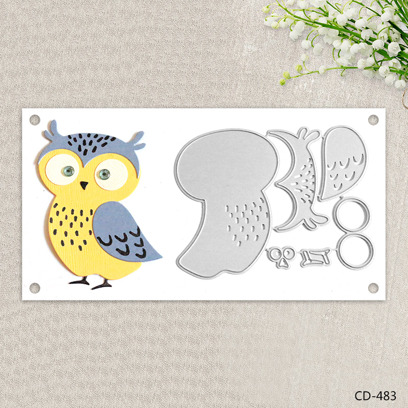 Zhuoang Metal Cutting Dies Lovely Owl Seal for DIY Scrapbooking Photo Album Card Making DIY Decoration Supply zhuoang beautiful wooden rubber clear stamps and cutting dies set for scrapbooking photo album card making diy decoration supply