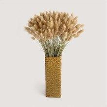 Ручная тканая креативная витрина плетёная ротанговая бамбуковая ваза сушеный цветочный растительный держатель