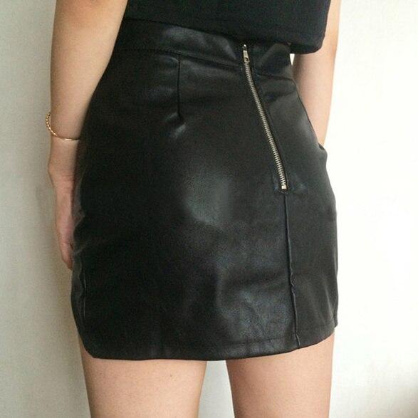 Aliexpress.com : Buy PU Leather Skirt Women 2015 Sexy Split Slim ...