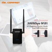 WIFI מהדר 2 אנטנה Repitidor Wi-Fi Extender Amplificador 300Mbps Extende אות שיפור נתבים אלחוטיים comfast wr302s