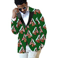 Africano dashiki imprimir blazers mens patchwork diseño de moda traje de ropa de áfrica