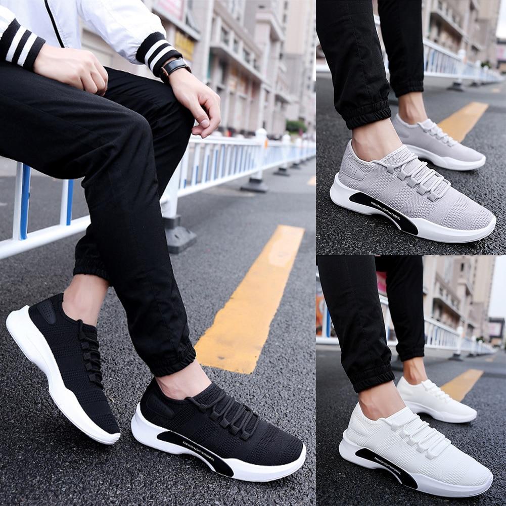 Respirant Zapatos Chaussure Appartements Noir De Hommes Hombre Homme blanc Lacent Sport Chaussures gris Léger Mocassins tBCsQhrdx