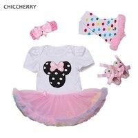 Cute Baby Girl Minnie Lace Petti Romper Dress Infant Tutu Set Headband Legwarmers Shoes Robe De