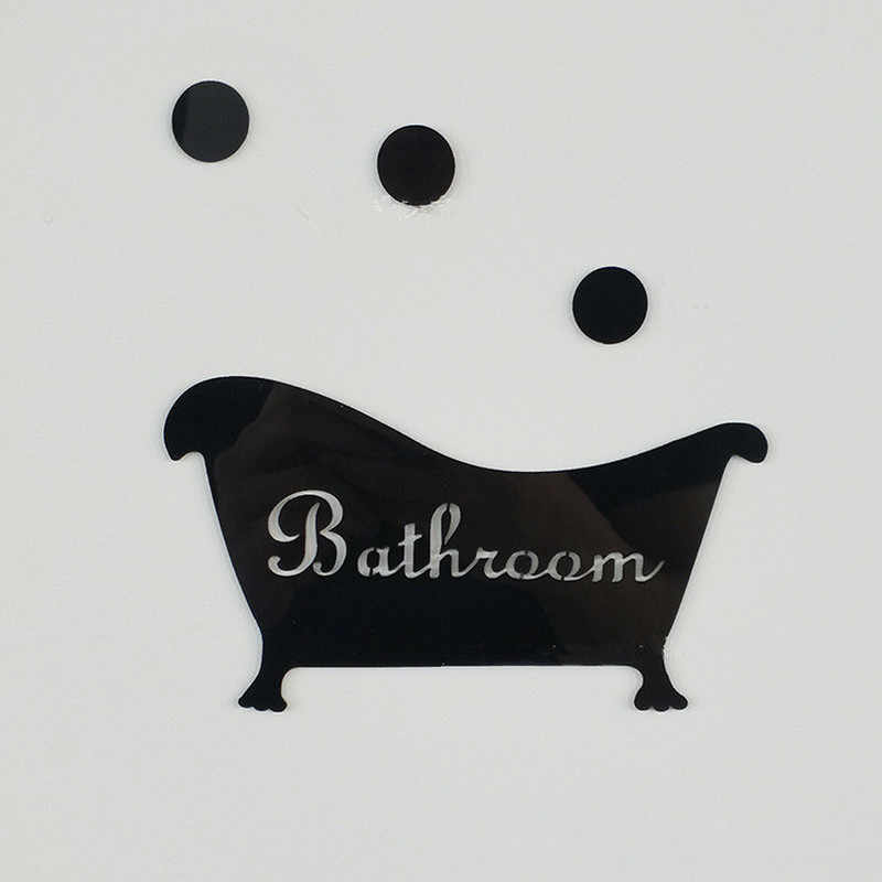 3D Mirror Wall Sticker Funny Door Entrance Sign Kids Men Women Bathroom DIY Wall Stickers Decals Bar Home Decor 2019 New Hot