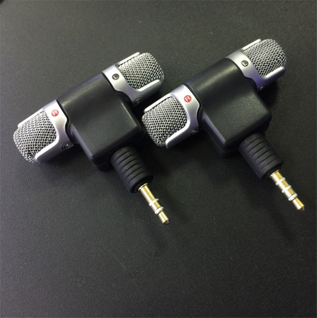 Mini 3.5mm Jack Microphone Stereo Mic For Recording Mobile Phone Studio Interview Microphone For smartphone For iPhone Android