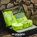 M Square 4 Pcs Set Kids Travel Cosmetic Bag Makeup Storage Bag For Children Shoe Bag Organizer