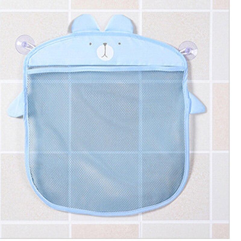 1pc Bathroom Bath Cosmetics Toys Storage Bag Child Baby Toiletries Storage Bag Sucker Hanging Bag B