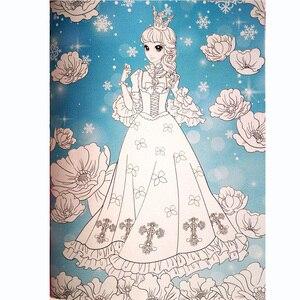 Image 4 - A4 Größe Kawaii Prinzessinnen Färbung Bücher für Kinder Set von 4 Malerei Bücher für Junge Mädchen Kinder/Erwachsene Aktivität bücher