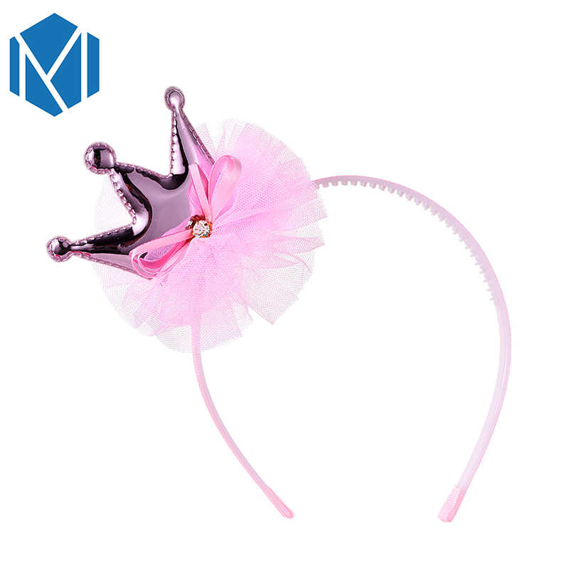 M MISM New Fashion Girl Hair Accessories High Quality Princess Crown Hairband Hot Sales Children Kawaii Headwear Hair Hoop