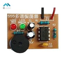 DIY Kit 555 multibrator suite NE555 нестабильной цепи Практические электронные производства Training двойной светодиодной вспышкой Запчасти