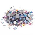 Los Colores mezclados AB No Hotfix Rhinestones Cristal De Nails Art Decoración Flatback Pegamento En Strass Diamantes DIY Artesanía Decoraciones