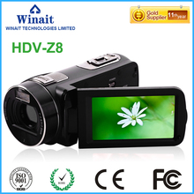 Cheaper Gold Supplier 24MP FHD 1080P Pro Digital Video Camcorder HDV-Z8 3.0″ Touch Display HD DVR Max 32GB Memory Digital Cameras DV