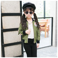 New Spring Boys Jackets Kids Girls Labeling Jacket Army Green Children's Baseball Jacket Zipper Coat Outwear Children Army Coat