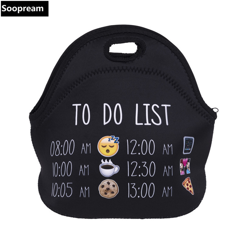 Free Shipping AAA Quality Thermal Insulated Neoprene Lunch Bag For Women Kids Lunchbags With Zipper Cooler