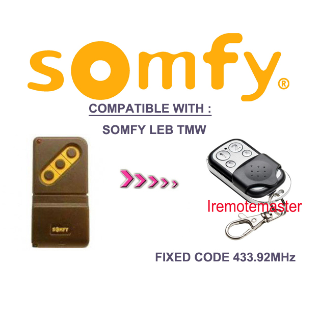 433Mhz fixed code duplicator for SOMFY LEB TMW4-in Door