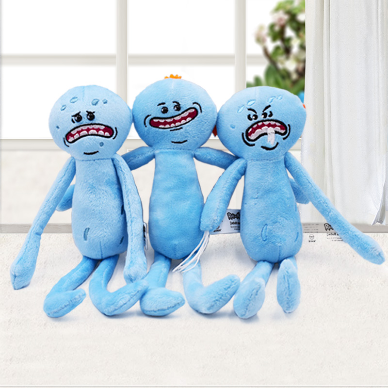 Ricky and Morty Cartoon Plush Soft Toys Happy Sad Faces Stuffed Mr Meeseeks Doll Ricky Morty Toys For Kids Christmas Gift image