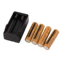 Baterias de Iões Recarregável com Carregador 4 PCS 18650 3.7 V 9900 MAH de Lítio Bateria Iões com Carregador Universal