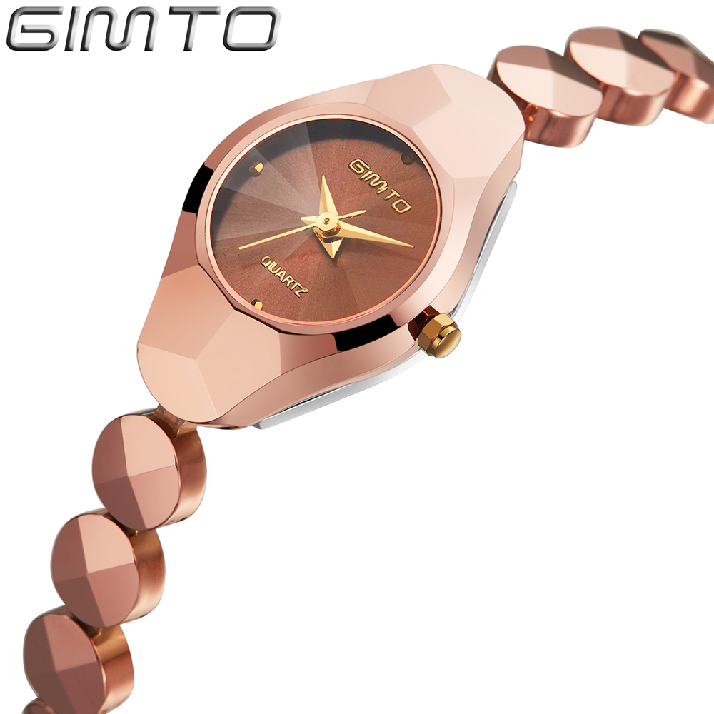 2016 Simple Style Lady Women Watches Tungsten Steel Luxury Rose Gold Silver quartz watch Bracelet Wristwatch