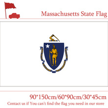 60*90cm 150x90cm Massachusetts State Flag USA 3x5ft Banner with Brass Metal Holes 30*45cm Car for Home Decoration
