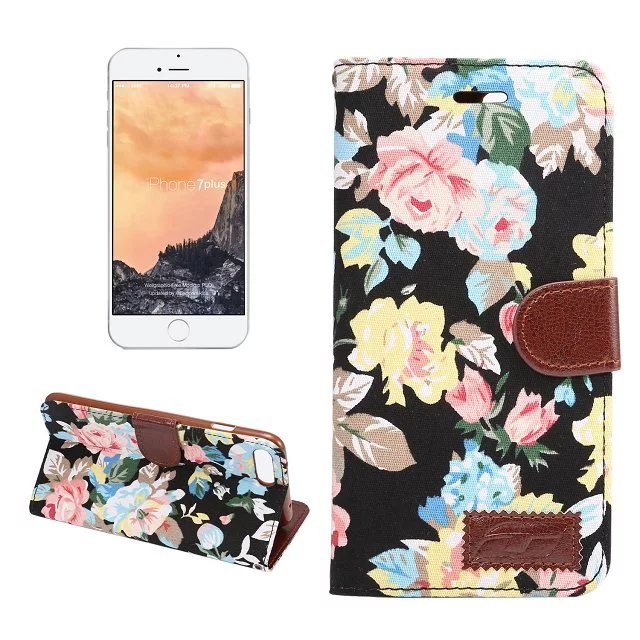 Case For Apple iPhone 7 Plus Princess Vintage Flower Pattern Printed Leathe Wallet Card Flip Case For iPhone7Plus Fold Cover