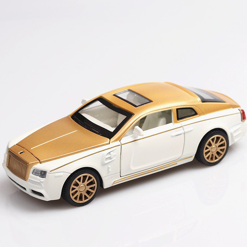 1:32 Rolls- Royce Phantom Diecasts & Toy Vehicles  Car Model With Sound&Light Collection Car Toys For Boy Children Gift