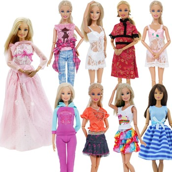 Handmade strój codzienna odzież bluzki spodnie sportowe śliczne topy spodnie sukienka ubrania dla Barbie akcesoria dla lalek zabawki dla dzieci tanie i dobre opinie BJDBUS Tkanina CN (pochodzenie) Fit for 11 5 -12 (30cm) doll Dziewczyny Styl życia Suit DOLLS ARE NOT INCLUDED 1x Outfit