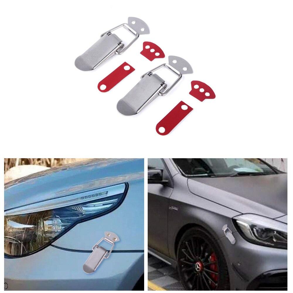 de aleaci/ón de aluminio Juego de accesorios para el parachoques del coche con cierre de liberaci/ón r/ápida SENRISE dorado