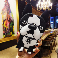 3D Minnie Mickey Bulldog Soft Silicone Cartoon Phone Case Back Cover For BBK Vivo X7 X7