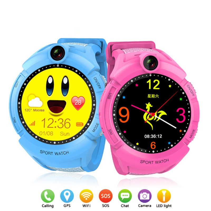 JQAIQ 1.4 Inch Color Touch Screen Kids Smart Watch With Camera Gps Wifi Location Child Smartwatch Sos Anti-lost Baby