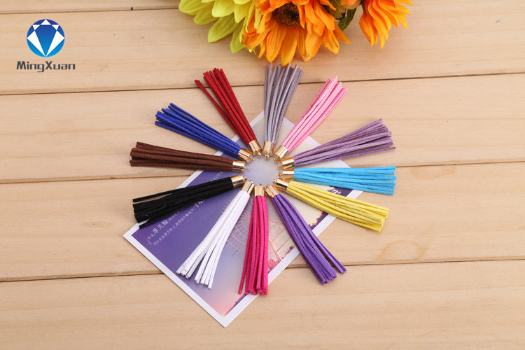 10pcs 8cm Cotton Suede Tassels Earrings Charm Pendant Satin Tassels for DIY Jewelry Making Findings Materials Borlas De Algodon
