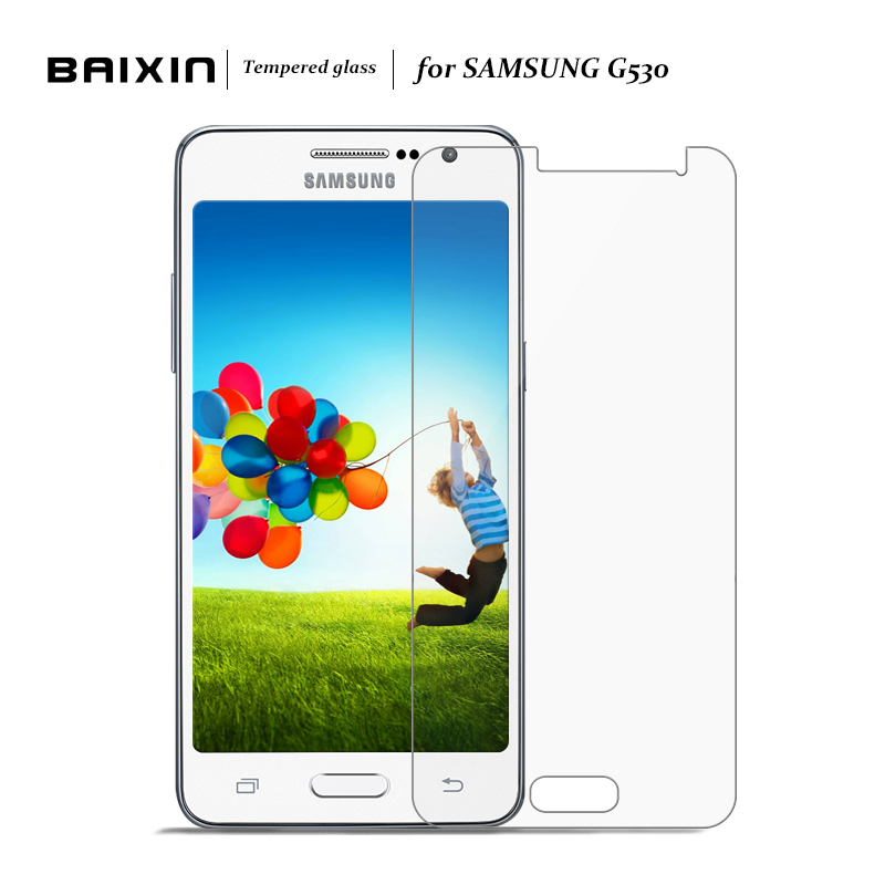 Baixin Screen Protector For Samsung Galaxy Grand Prime G530 G530H Tempered Glass for G530 W G530 H G531F Protective Film Cover