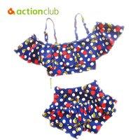 Actionclub Baby Kids Swimwear XS Bikini Sets 2016 Brand New Cute Children Swimsuit Print Cherry Bathing