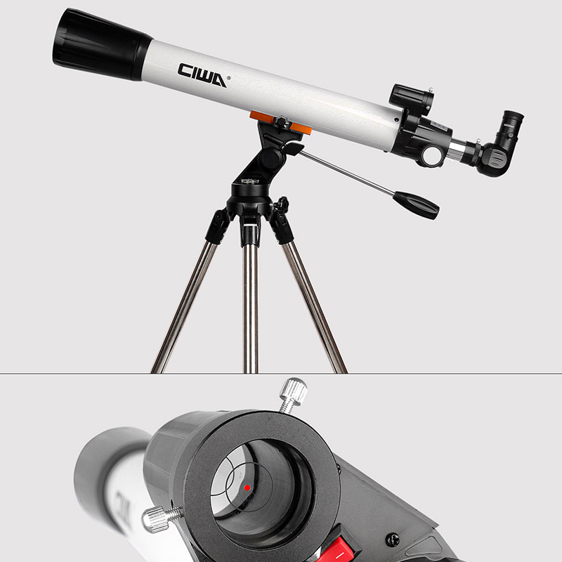monocular óptico refrator design tripé portátil telescópio telescópico espaço