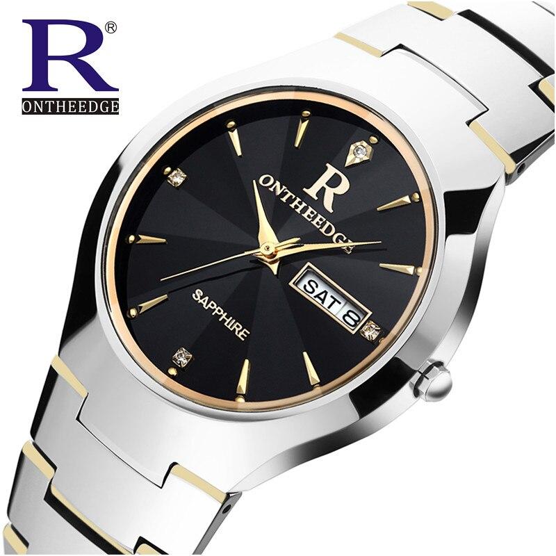 Original RON Fashion Watch Women Brand Luxury Men Watches Tungsten Steel Waterproof Quartz Wristwatches relogio feminino
