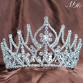 Vintage Tiaras Brides Crowns Handmade Clear Crystal Austrian Rhinestone Hair Jewelry Wedding Bridal Beauty Pageant Party Prom