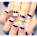 New Water Transfer Nail Sticker Water Decals Cute Black Beard Mustache Nail Design Decorative Manicure Nail Tools