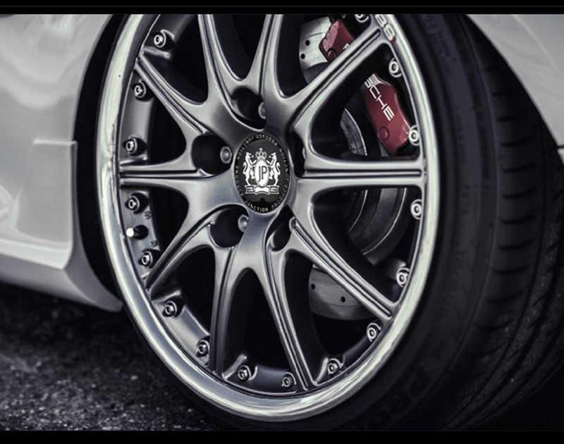 4 pçs/lote 56mm Liga de alumínio Estilo Do Carro JP Junção produzir Carro Pneu Pneu Direcção Centro Da Roda Cap Hub Etiqueta Do Emblema Do Emblema
