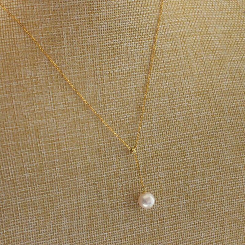 YIKALAISI 925 Sterling Silber Schmuck 8-9mm Natürliche Perlen - Edlen Schmuck - Foto 2