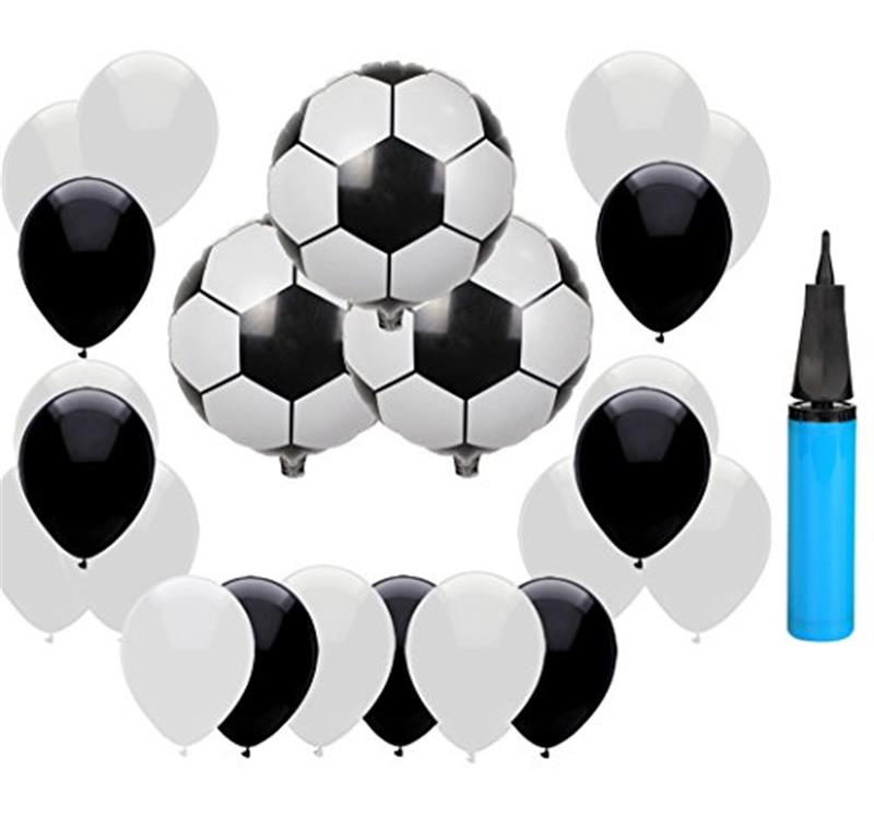 18 Inch Soccer Balloons Decor Set 2018 World Cup Theme Party Balloons Kit Decorations Ball Goal Party Supplies Inflator Football