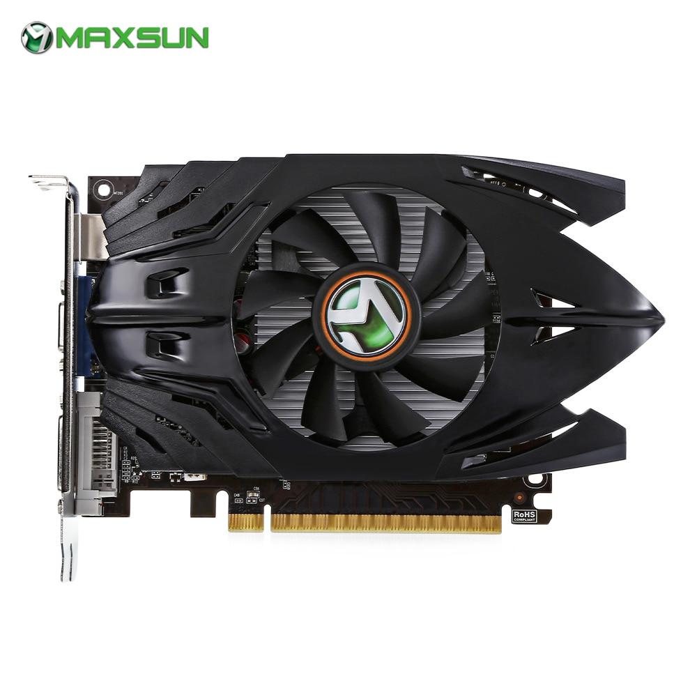 Maxsun Nividia GeForce gt710 Графика карты 1 ГБ 64bit DDR3 6000 мГц с DVI, HDMI, VGA для Оконные рамы Desktop