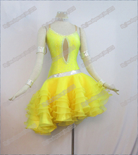 Hot sales! Free shipping Latin dance dress,tango salsa samba dance dress,latin dance wear L-0050