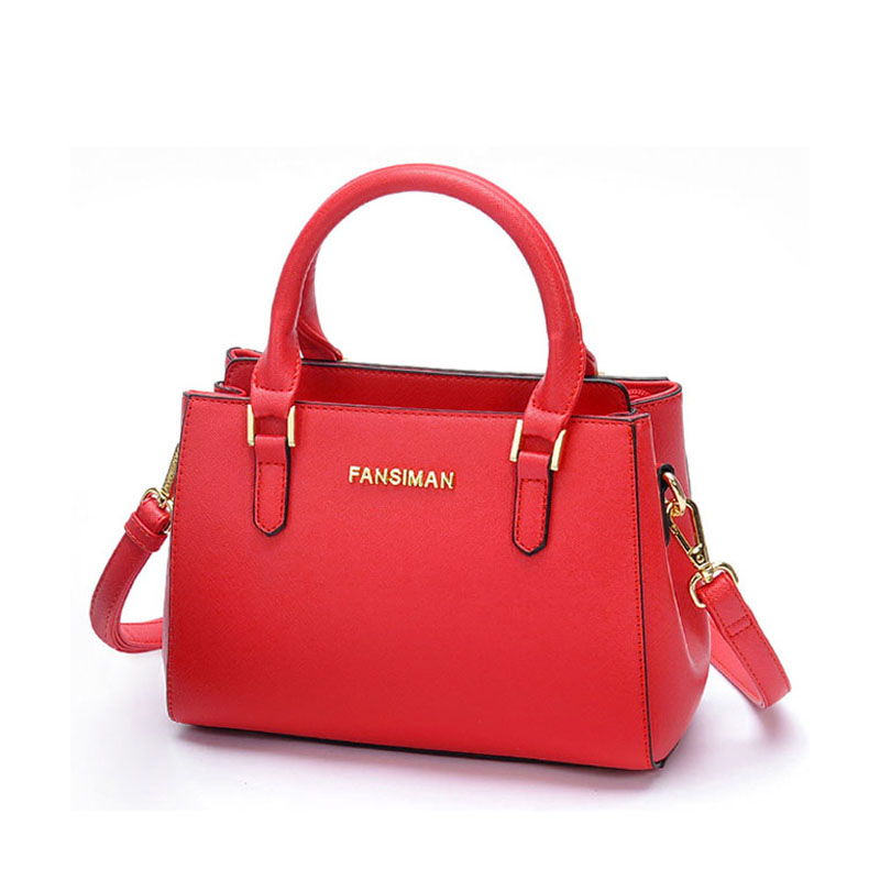 3a65ef4886 Fansiman Brand 2019 New Women Handbags Luxury Pu Leather Female Bag Shoulder  Hand Bags Ladies Dress Bags Tote Work Handbag-in Shoulder Bags from Luggage  ...